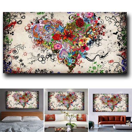 Hanging Living Room Pictures Home Bedroom Wall Painting Canvas Heart Print Walmart Canada