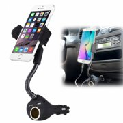 Car Mount Charger Socket Holder USB Port W1Y for Samsung Galaxy S8 S7, J7 Sky Pro S5 Sport (SM-G860P), Edge S6 Edge, active S4 S3 S10e S10+ S10 Mega SPH-L600 SGH-M819, V (2017) J3 V, Mini