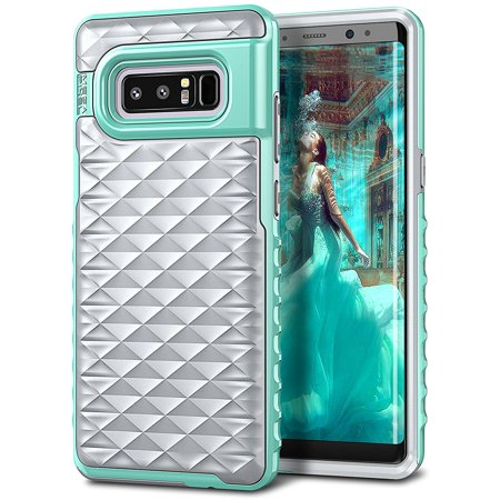 Galaxy Note 8 Case, ELV Samsung Galaxy Note 8 Defender 360 degree Protective Heavy Duty Premium Armor Full Body Hybrid Case Cover for Samsung Galaxy Note 8 (GREY / MINT)