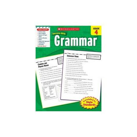 Scholastic Success With Grammar Grade 4 Walmart Com border=