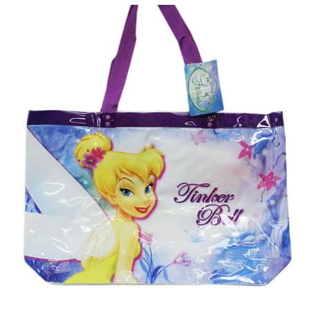 Disney's Tinker Bell Vinyl Half-Clear Beach Tote Bag