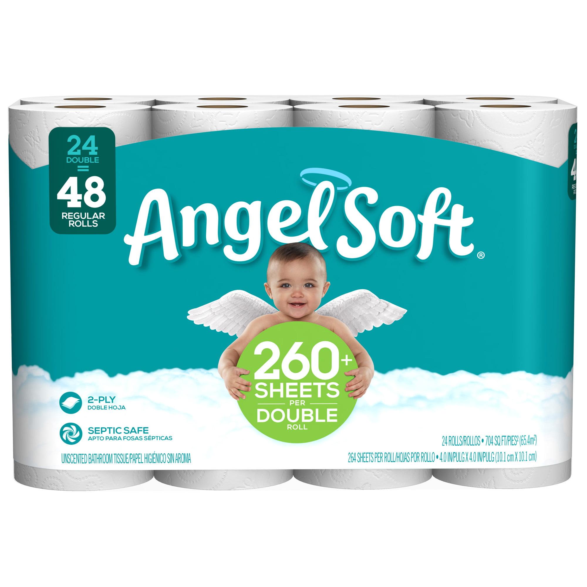 Angel Soft Toilet Paper 24 Double Rolls Walmart Com