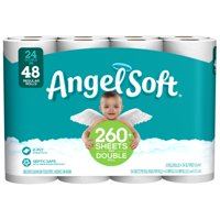 (2 Pack) Angel Soft Toilet Paper, 24 Double Rolls