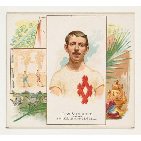 CWV Clarke Walker from Worlds Champions Second Series (N43) for Allen & Ginter Cigarettes Poster Print (18 x 24)](Allen Walker Halloween)