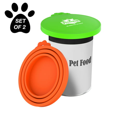 (Silicone Pet Food Can Lids, BPA-Free by Petmaker (Set of 2))
