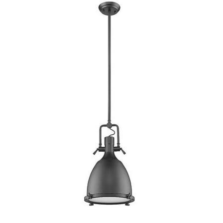 "CHLOE Lighting WALTER Industrial-style 1 Light Black Ceiling Mini Pendant 14"" Shade"