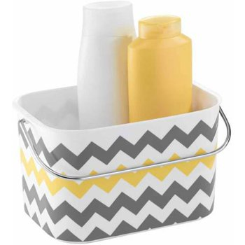 InterDesign Una Bathroom Tote Basket with Handle