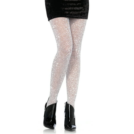Leg Avenue Sexy Holiday Sparkle Glitter Lurex Tights, Silver, One-Size, 3-pairs](Pairs Costumes)