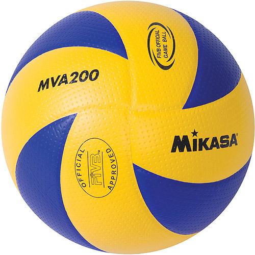 Mikasa MVA200 Olympic Indoor Volleyball, Blue/Yellow