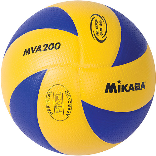 Mikasa MVA200 Olympic Indoor Volleyball, Blue/Yellow