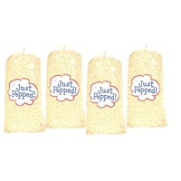 Just Popped 4 Pack Gourmet White Cheddar Party Popcorn (72 Cups Per Case)