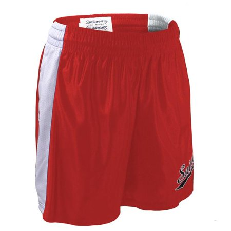 Intensity N7765643SML Adult 5.5 Dazzle Tricot Mesh SP-V Short, Scarlet & White - Small (Tricot Foil)