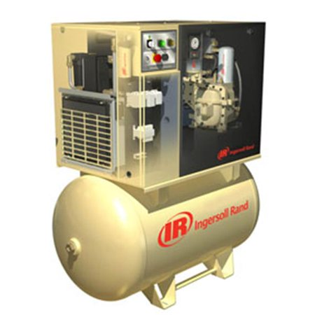 Ingersoll Rand Compressors UP6-15CTAS-I Rotary Screw Air Compressor, Total Air Sytm, Tank Mounted, 15HP, 230-3-60,50CFM, 150 MaxPSI, 80