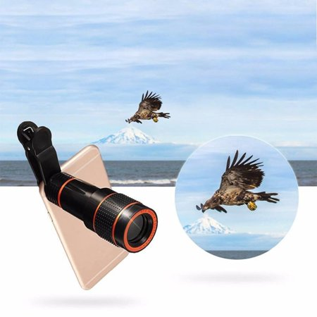 8X18 High Power Mobile Monocular Smartphone Shockproof Telescope for Bird Watching Hunting Camping - image 1 of 9