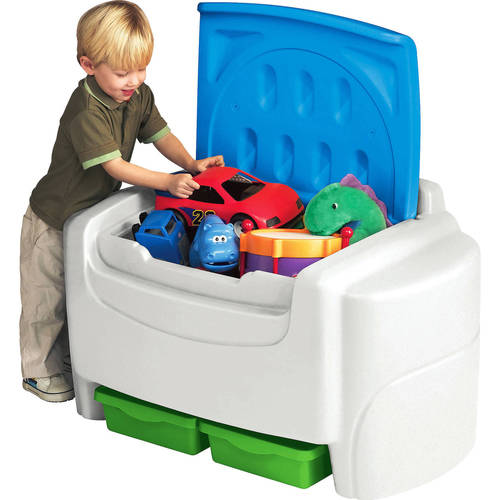 Little Tikes Sort N Store Toy Storage Chest White And Blue