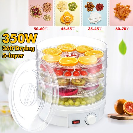 350W 5 layer Dryer for Dried Fruit Vegetable Meat Dryer Machine - White ()
