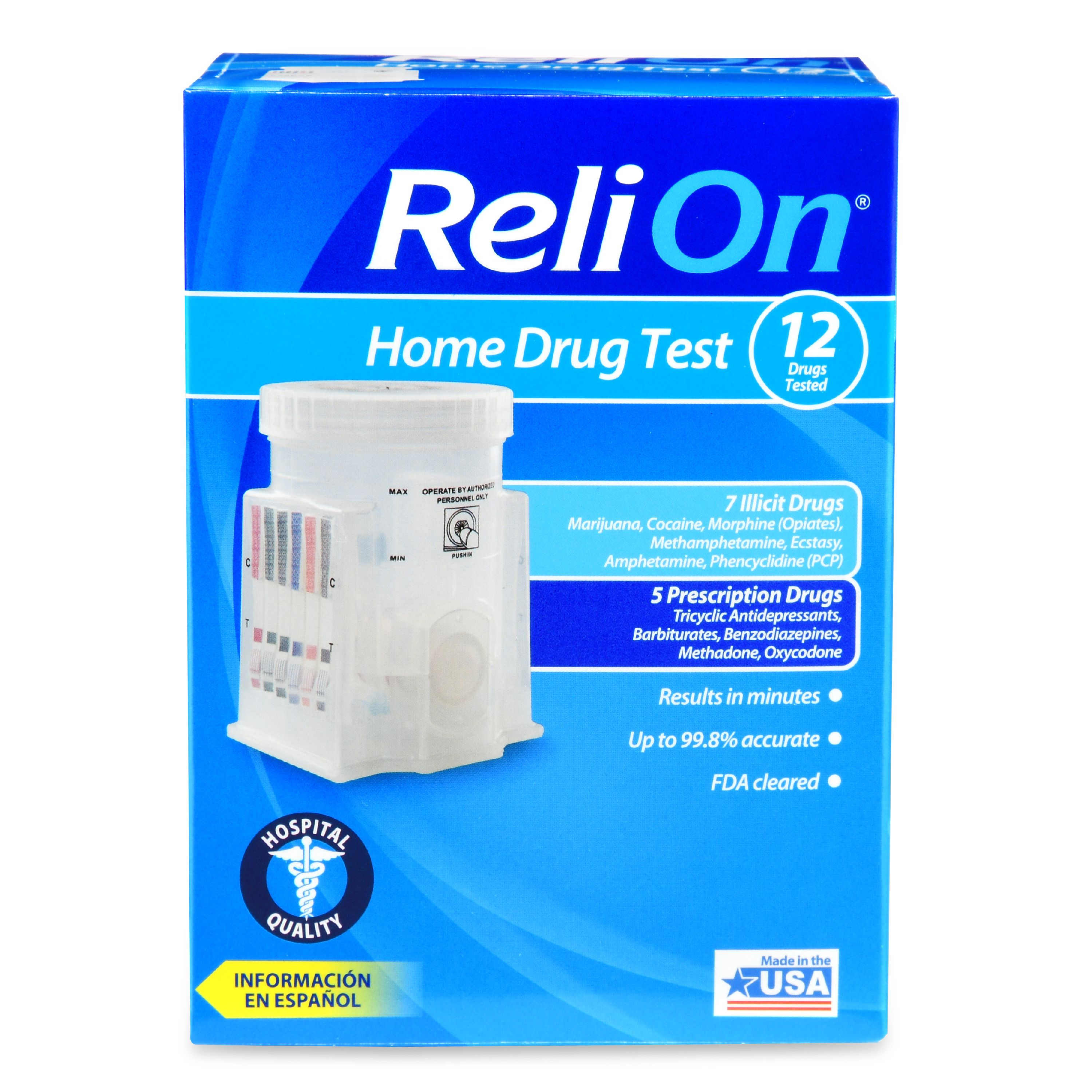 ReliOn Home Drug Test, 12 Drugs Tested