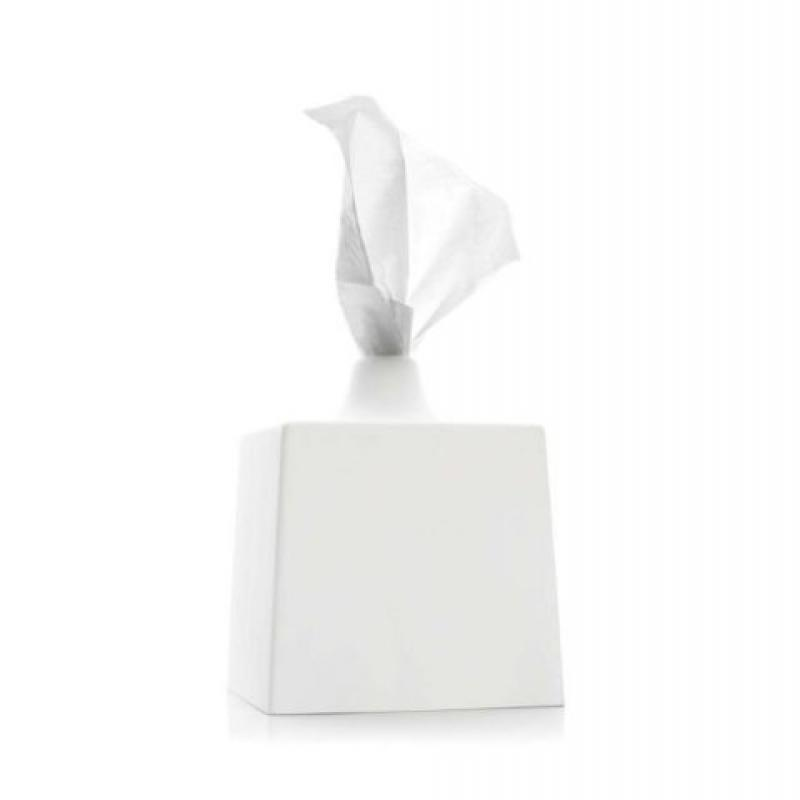 Konte TBC2 WC Line-Tissue Box Cover - Porcelain White