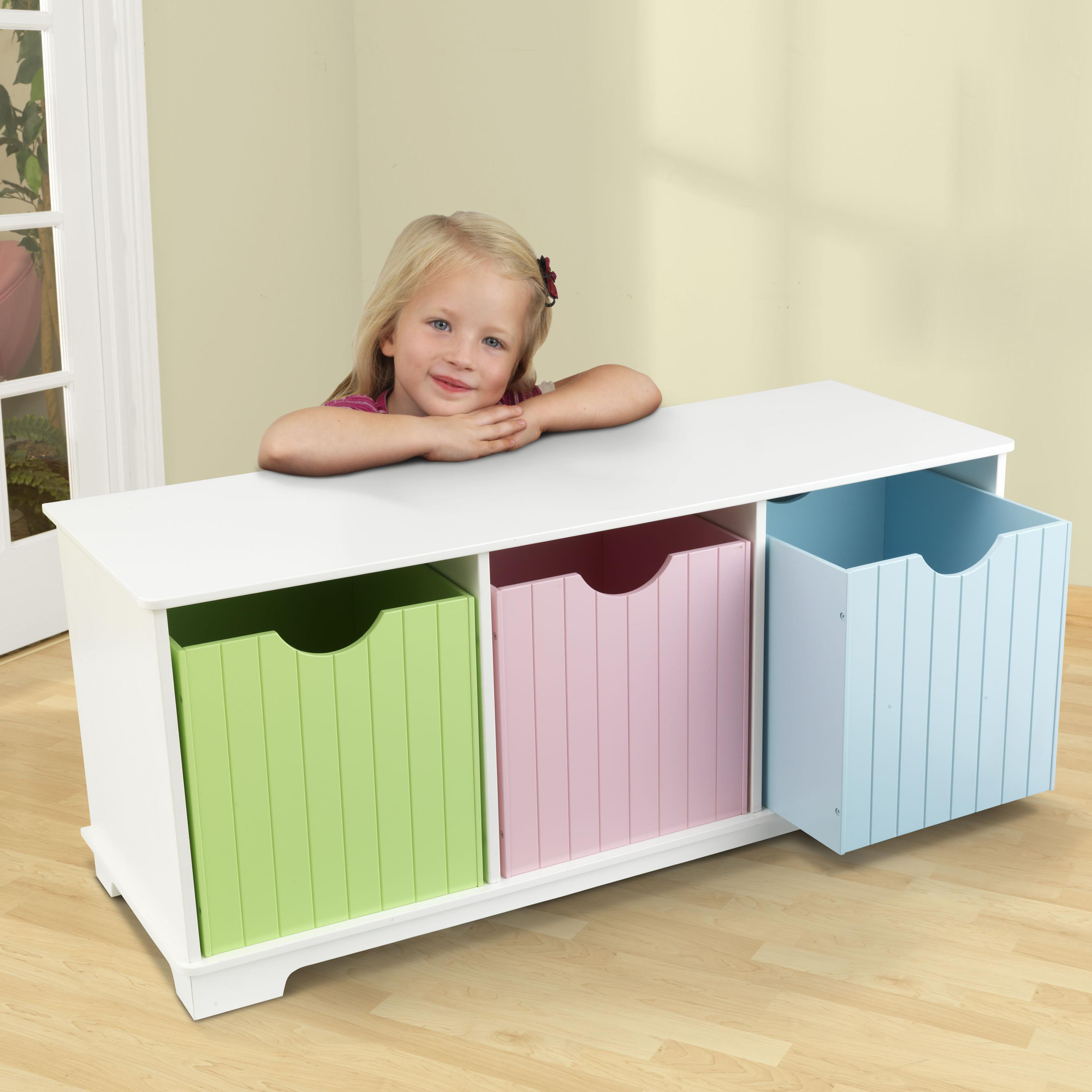 KidKraft - Nantucket Storage Bench, Multiple Colors