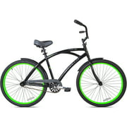 "26"" Kent La Jolla Men's Cruiser Bike, Black/Green"