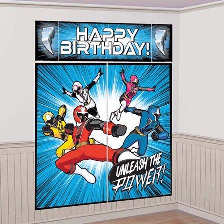 Power Rangers 'Ninja Steel' Wall Poster Decorating Kit (Power Rangers Ninja Steel Presto Change O)