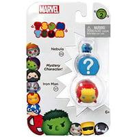 Marvel Tsum Tsum Series 2 Nebula & Iron Man 1-Inch Minifigure 3-Pack #252 & 127, By Jakks Pacific