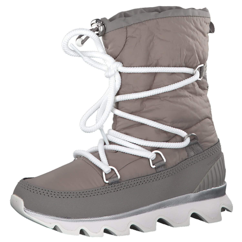 d17584d9c7ac2a SOREL Women's Kinetic Boots, Glitter/Chrome Grey/White, 7.5 M US