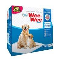 Four Paws Wee-Wee Dog Training Pads, 200-Pack Box