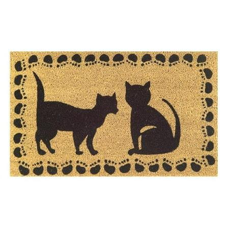 Imports Decor Two Cats Door Mat (30x18)