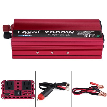 Ac Auto Car Power Inverter (Lv. life 2000W DC 12V to AC 110V Power Inverter Converter W/ Dual Outlets for Home Car Outdoor Use, 12V to 110V Power Inverter, Power Converter )