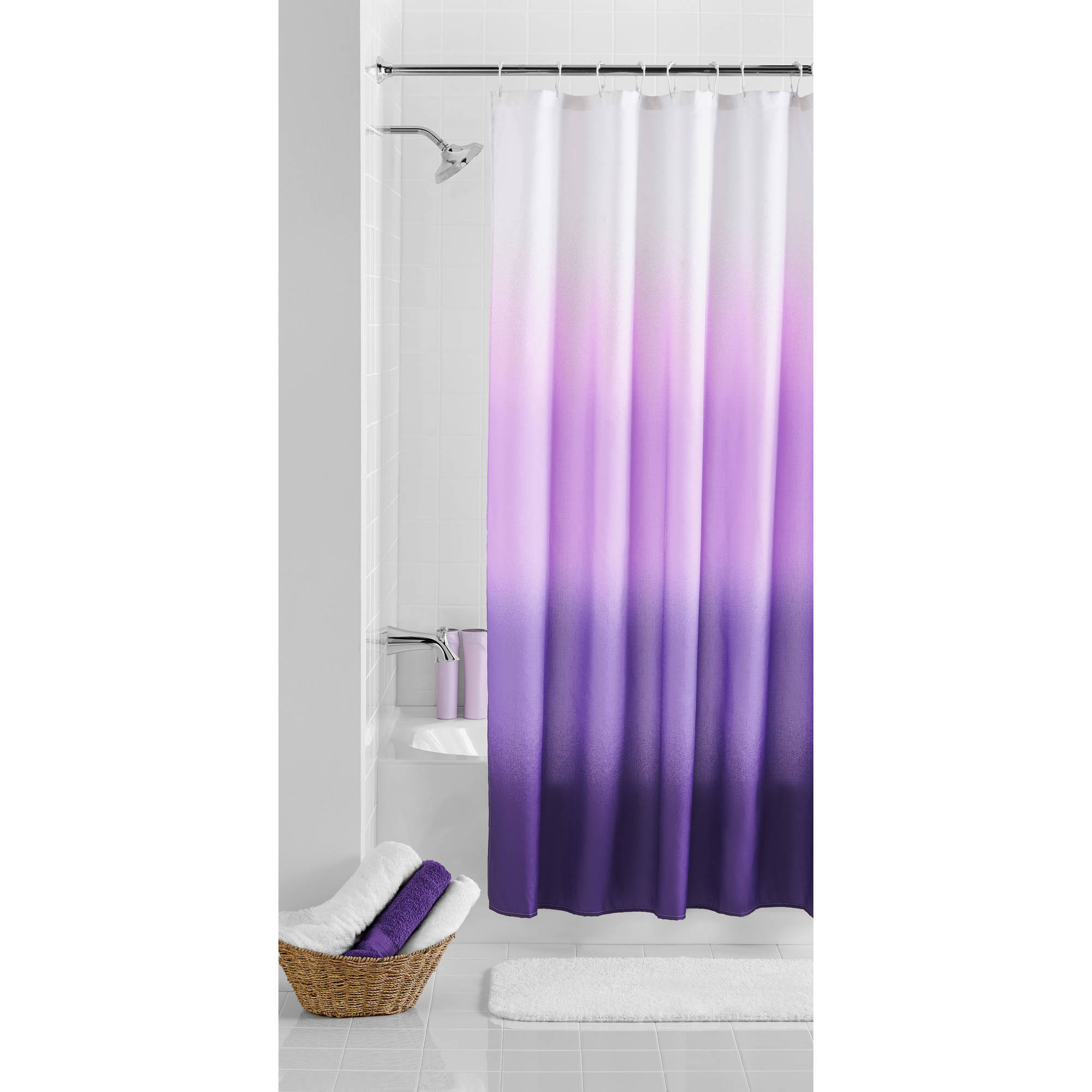 Mainstays Ombre Shower Curtain