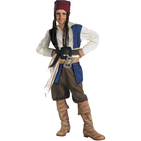 Jack Sparrow Classic Child Halloween Costume (Captain Jack Sparrow Wig)
