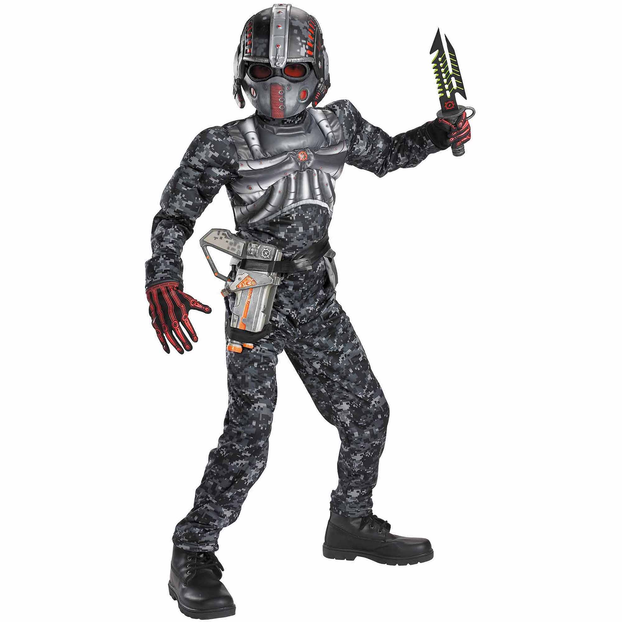 Boys' Recon Commando Muscle Costume