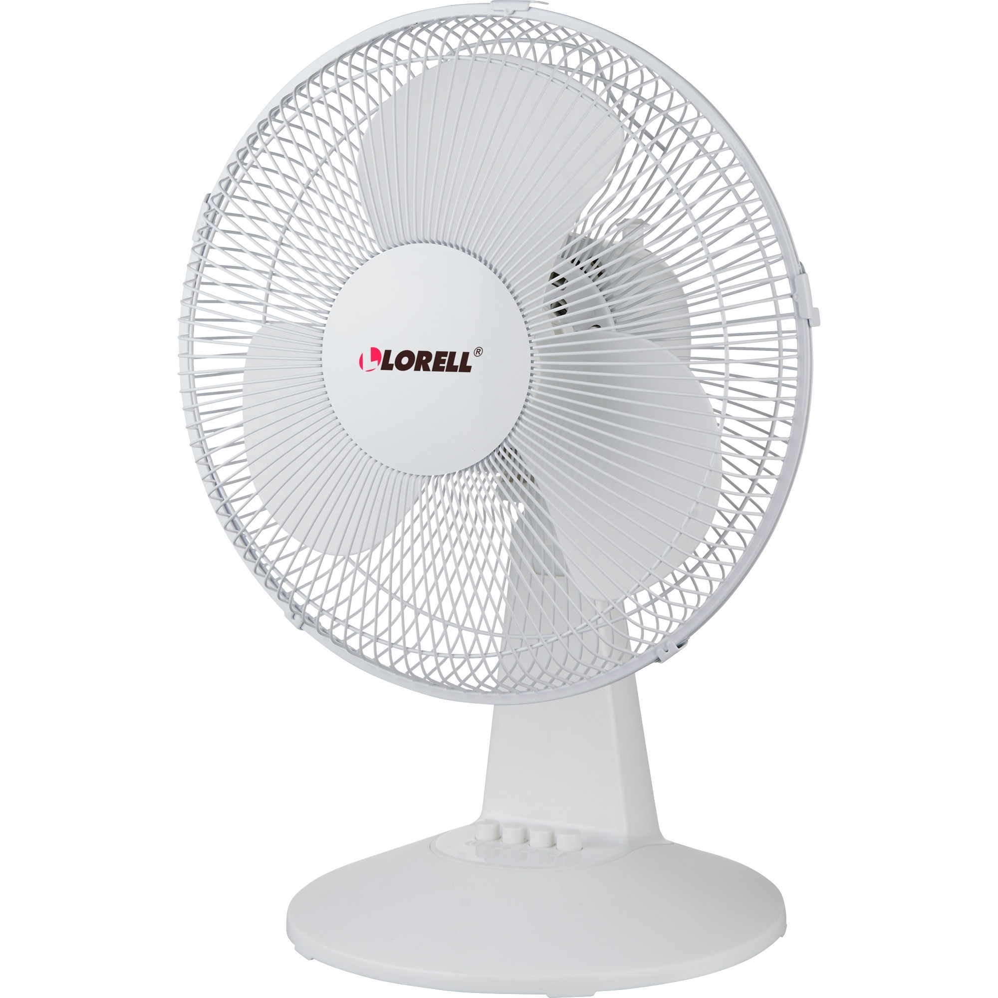 "Lorell, LLR44551, 12"" Oscillating Desk Fan, 1 Each, Light Gray"