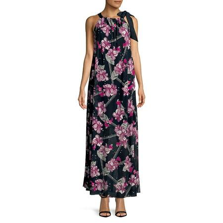 30fedaefdd73 Ellen Tracy - Floral Printed Halter Maxi Dress - Walmart.com
