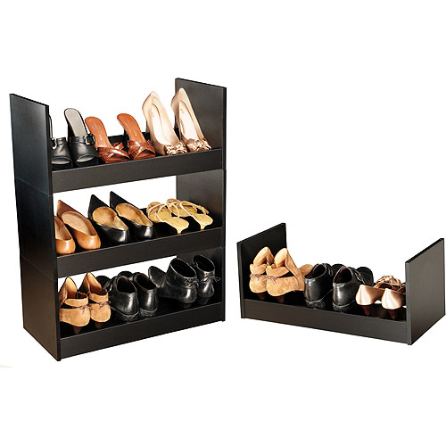 Stackable Shoe Cabinet, Black