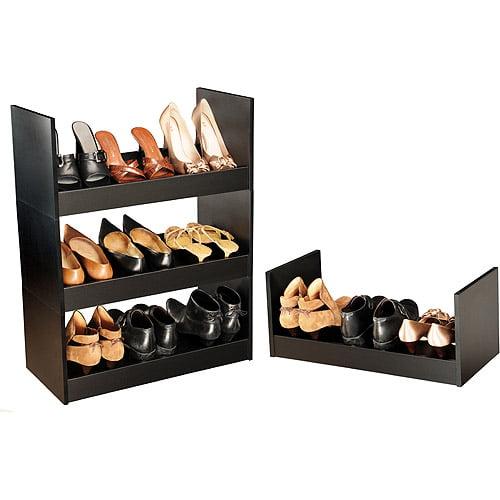 Stackable Shoe Cabinet, Black