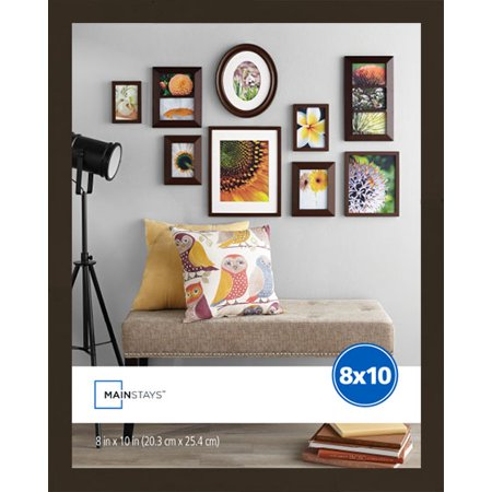 Mainstays 8x10 Linear Frame, Brown](Cheap 8x10 Frames)