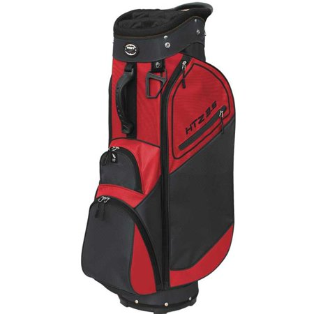 Hot-Z 02HOT35CT20ZIP11111BKG01 3.5 Golf Cart Bag - Zip Off Front Pocket, Black & Gray - image 1 of 1