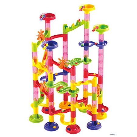 Memtes Marble Run Race Coaster 105 Piece Set - Marble Racer