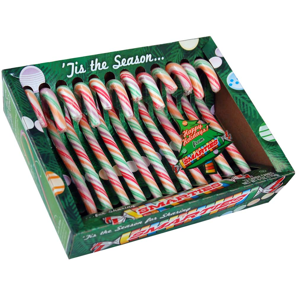Smarties Candy Canes 12-12 count boxes