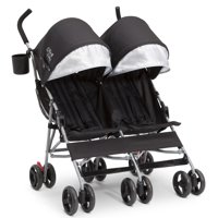 Little Folks Olympia Side x Side Double Stroller by Delta Children, Black