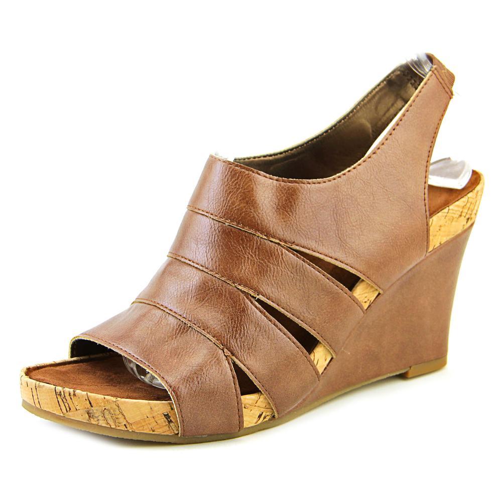 Aerosoles Plush Ray Women Open Toe Synthetic Black Wedge Sandal by Aerosoles