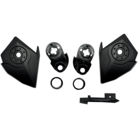 afx helmet side cover kit with ratchet kit - flat black 0133-0603 Helmet Side Covers