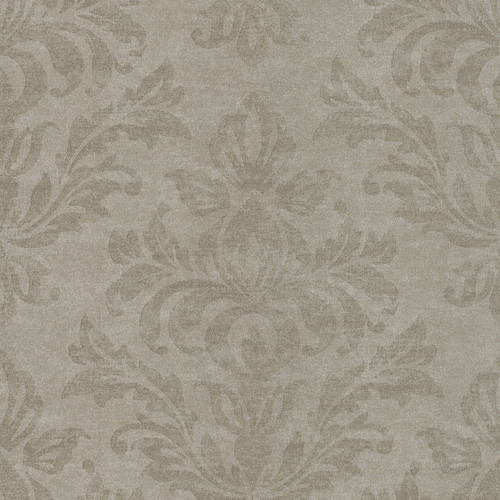 Brewster Home Fashions Serene 33' x 20.5'' Damask 3D Embossed Wallpaper