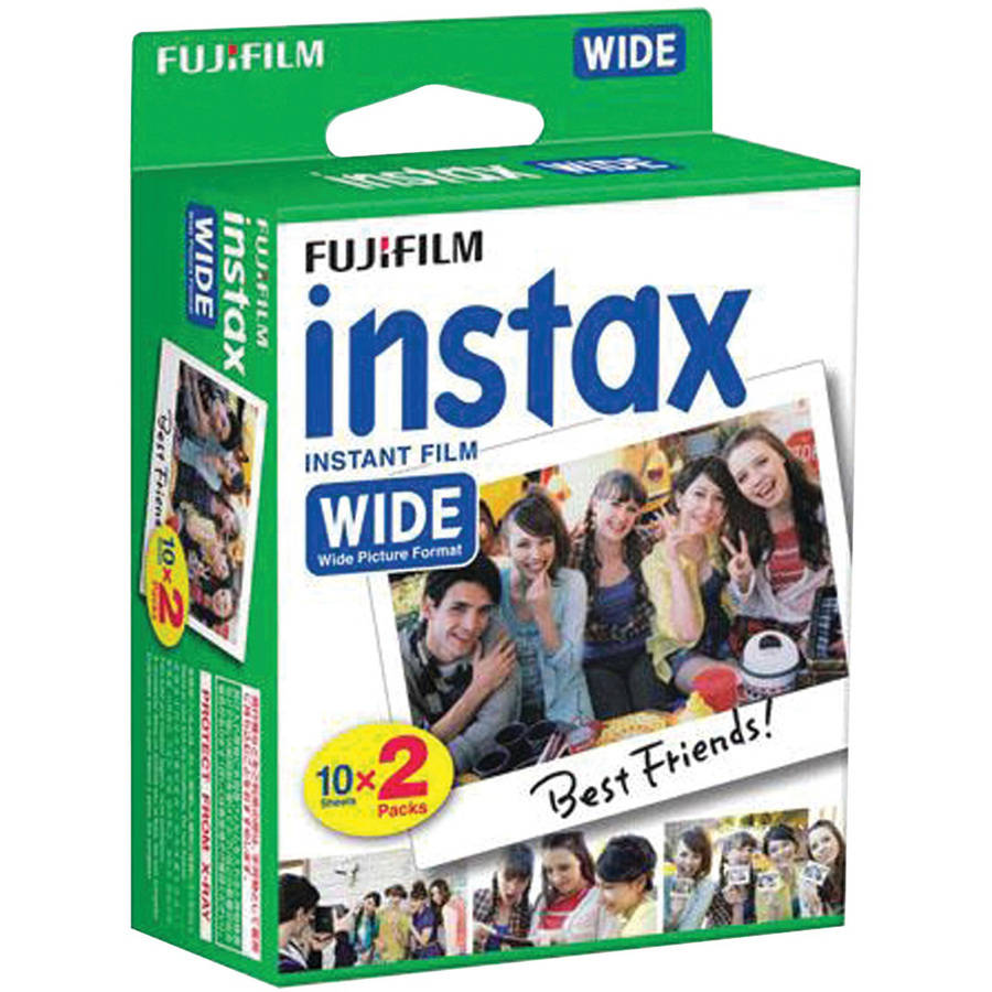 Fujifilm 16468498 Instax Wide Film Twin Pack