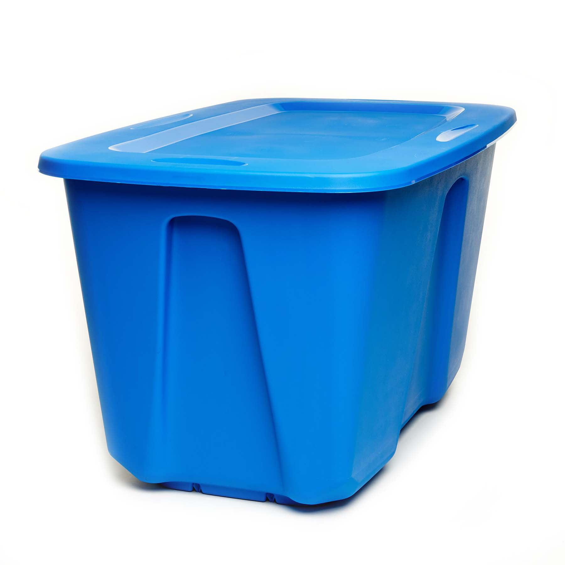 Homz 32 Gallon Storage Container, Royal Blue - Set of 2