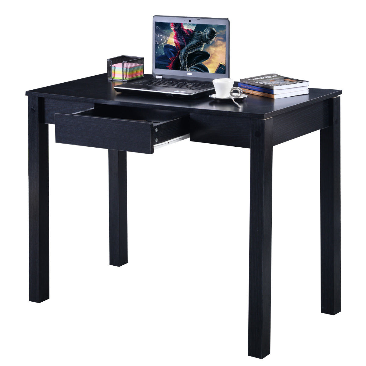 Costway Study Desk Computer Table Drawer Modern Decor Furniture Home Office Com