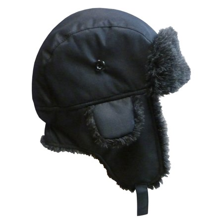 NICE CAPS Big And Little Boys Taslon Trapper Winter Snow Ski Headwear Hat with Big Ear Flaps - Fits Toddler Kids Children Youth Size Apparel Accessories (Little Boy Fishing Hat)