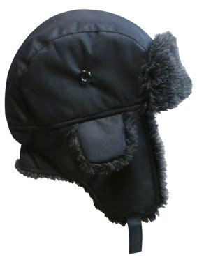 NICE CAPS Big And Little Boys Taslon Trapper Winter Snow Ski Headwear Hat with Big Ear Flaps - Fits Toddler Kids Children Youth Size Apparel Accessories